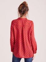 Czerwona koszula z morskim nadrukiem                                                                          zdj.                                                                         2