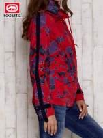 Czerwona kurtka w geometryczne wzory                                  zdj.                                  3