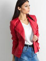 Czerwona kurtka ze skóry ekologicznej                                  zdj.                                  3
