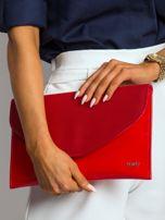 Czerwona lakierowana kopertówka z klapką                                  zdj.                                  5