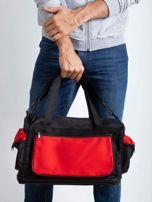 Czerwona męska torba treningowa                                  zdj.                                  3