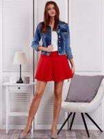 Czerwona rozkloszowana spódnica damska                                  zdj.                                  4