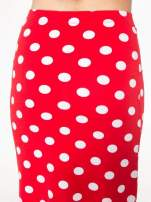 Czerwona spódnica maxi w grochy                                  zdj.                                  8