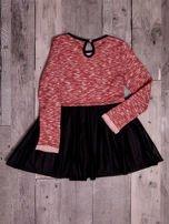 Czerwona sukienka dla dziewczynki z napisem                                  zdj.                                  7