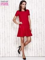 Różowa sukienka dresowa z kokardami z tyłu                                                                          zdj.                                                                         2