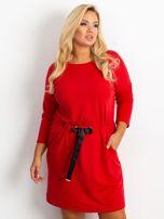 Czerwona sukienka plus size Lyric                                  zdj.                                  1