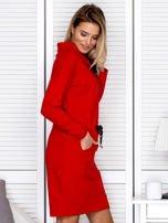 Czerwona sukienka z wstążkami                                   zdj.                                  3