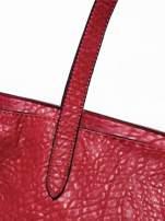 Czerwona torebka shopper bag z apaszką                                  zdj.                                  4