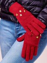 Khaki rękawiczki z ćwiekami i ściągaczem                                                                          zdj.                                                                         2