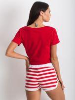 Czerwono-białe szorty Malleable                                  zdj.                                  2