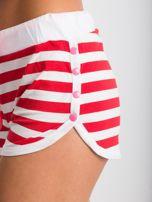 Czerwono-białe szorty Malleable                                  zdj.                                  6