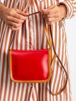 Czerwono-czarna damska torebka                                  zdj.                                  5