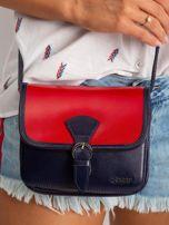 Czerwono-granatowa damska torebka                                  zdj.                                  2