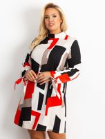 Czerwono-granatowa sukienka plus size Until                                  zdj.                                  1