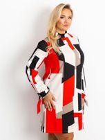Czerwono-granatowa sukienka plus size Until                                  zdj.                                  3