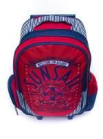 Czerwony plecak szkolny na kółkach walizka DISNEY z motywem żeglarskim                                  zdj.                                  5
