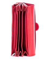 Czerwony podłużny skórzany portfel z klapką                                  zdj.                                  5