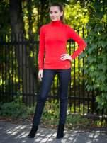 Czerwony prążkowany golf damski                                  zdj.                                  9