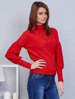 Czerwony sweter z szerokimi rękawami                                  zdj.                                  5