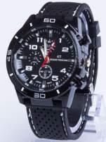 DLA NIEGO... Czarno-biały sportowy zegarek męski GT GRAND TOURING