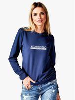 Damska bluza ze znakiem zodiaku KOZIOROŻEC granatowa                                  zdj.                                  1
