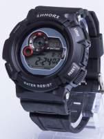 Dla Niego... Czarny sportowy męski zegarek wielofunkcyjny                                   zdj.                                  1