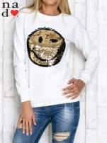 Ciemnoszara bluza z dwustronną naszywką z cekinów                                                                          zdj.                                                                         1