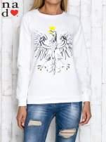 Granatowa bluza z godłem