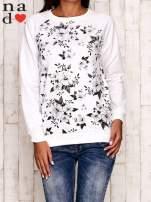 Ecru bluza z kwiatowym nadrukiem                                  zdj.                                  1