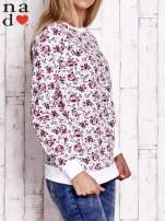 Ecru bluza z kwiatowymi motywami                                                                          zdj.                                                                         3