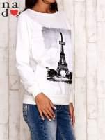 Ecru bluza z motywem Wieży Eiffla                                  zdj.                                  3