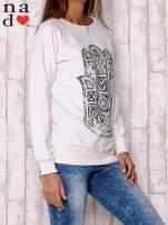 Ecru bluza z motywem dłoni                                  zdj.                                  3