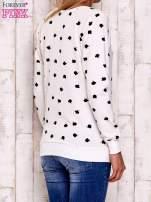Ecru bluza z nadrukiem jabłuszka                                                                          zdj.                                                                         5