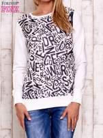 Ecru bluza z nadrukiem liter                                  zdj.                                  1