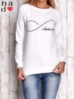 Ecru bluza z napisem SMILER                                  zdj.                                  1
