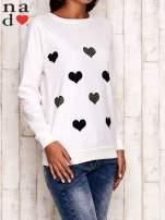 Ecru bluza z serduszkami