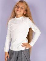 Ecru bluzka dziecięca z półgolfem                                   zdj.                                  2
