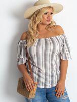 Ecru bluzka plus size Vibes                                  zdj.                                  5
