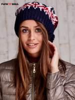 Ecru czapka w norweskie wzory FUNK N SOUL                                  zdj.                                  1
