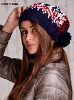 Ecru czapka w norweskie wzory FUNK N SOUL                                  zdj.                                  2