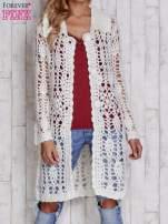 Szary długi sweter na guziki