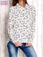 Ecru koszula w pandy                                  zdj.                                  1