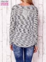 Ecru melanżowy sweter                                                                          zdj.                                                                         4