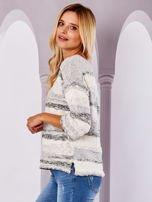 Ecru sweter melange                                  zdj.                                  3