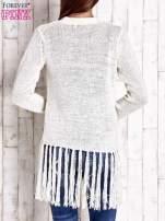 Ecru sweter w stylu boho                                  zdj.                                  2