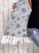 Ecru włochaty sweter w grochy                                  zdj.                                  8