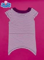 Fioletowa asymetryczna tunika dla dziewczynki ŚWINKA PEPPA                                                                          zdj.                                                                         2