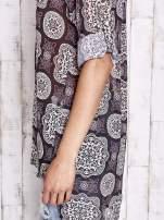 Fioletowa koszula w ornamenty kwiatowe                                  zdj.                                  7