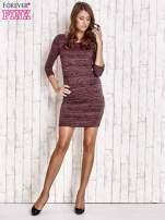 Fioletowa prosta melanżowa sukienka                                   zdj.                                  4