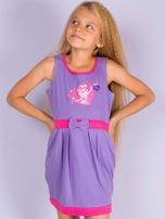 Fioletowa sukienka dla dziewczynki MY LITTLE PONY                                  zdj.                                  2